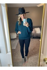 Andre by Unit Light weight knit top charcoal or jewel green