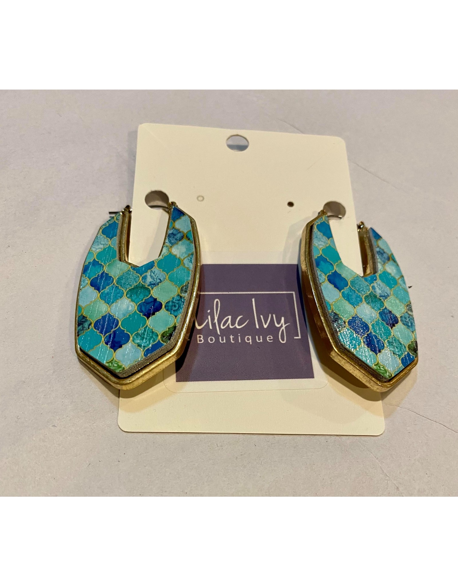 What's Hot LMint moroccan painted wood earrings