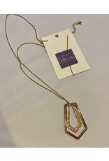 What's Hot Worn gold geometric necklace