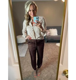 olivaceous Satin joggers brown or tan