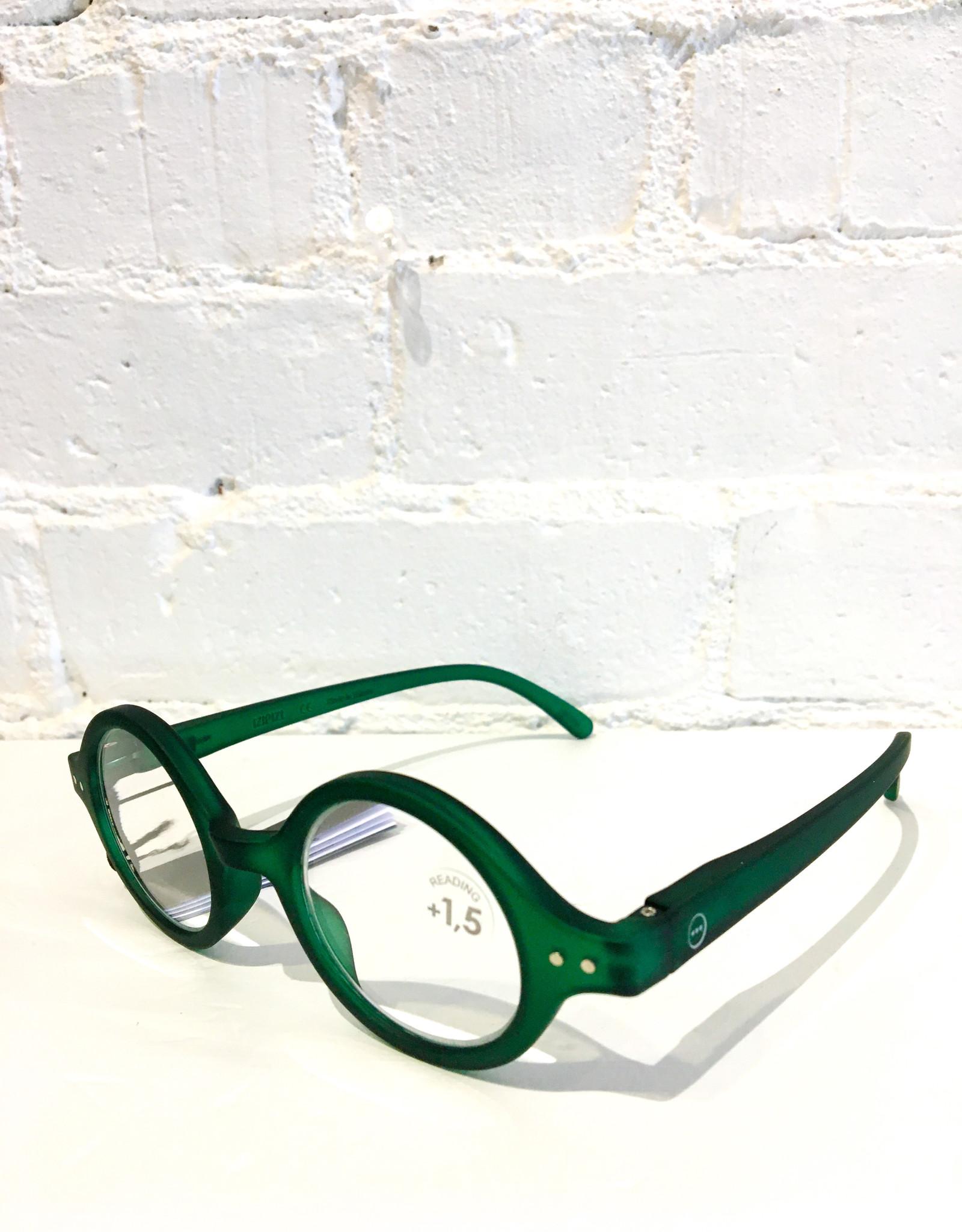 Izipizi Reading Glasses- #J- Green Crystal