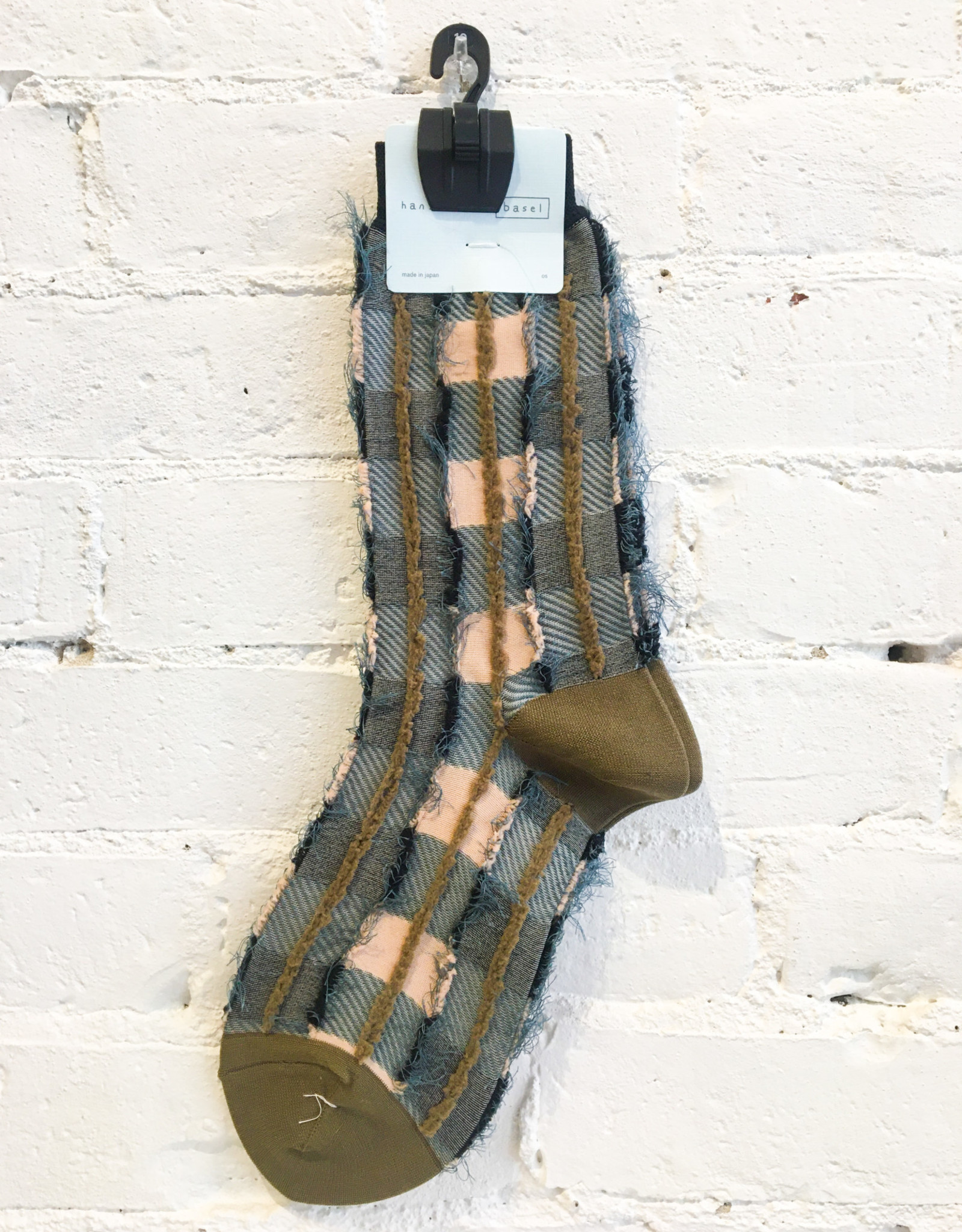 Hansel From Basel Textured Fuzzy Striped Socks