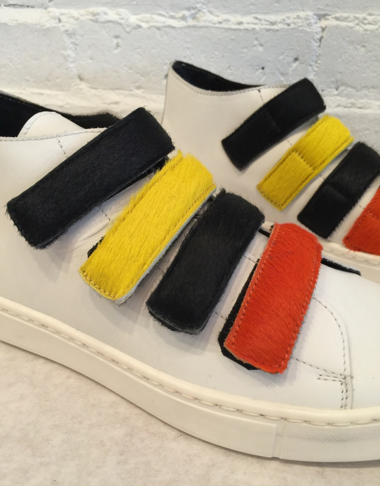 Collection PRIVEE? Velcro Pony Hair Sneakers