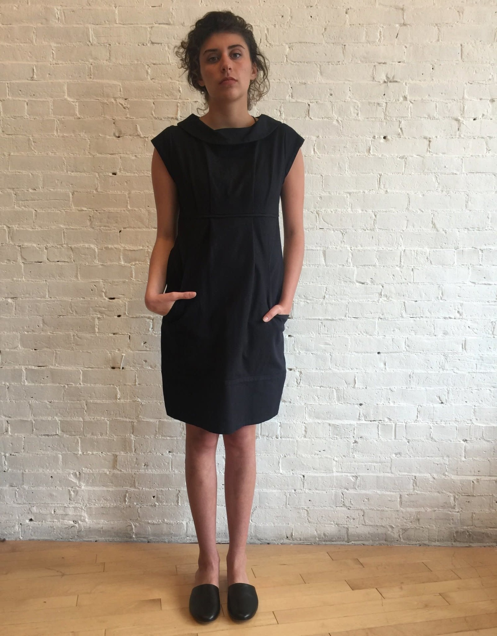 Virginia Bizzi Voreo Black Dress