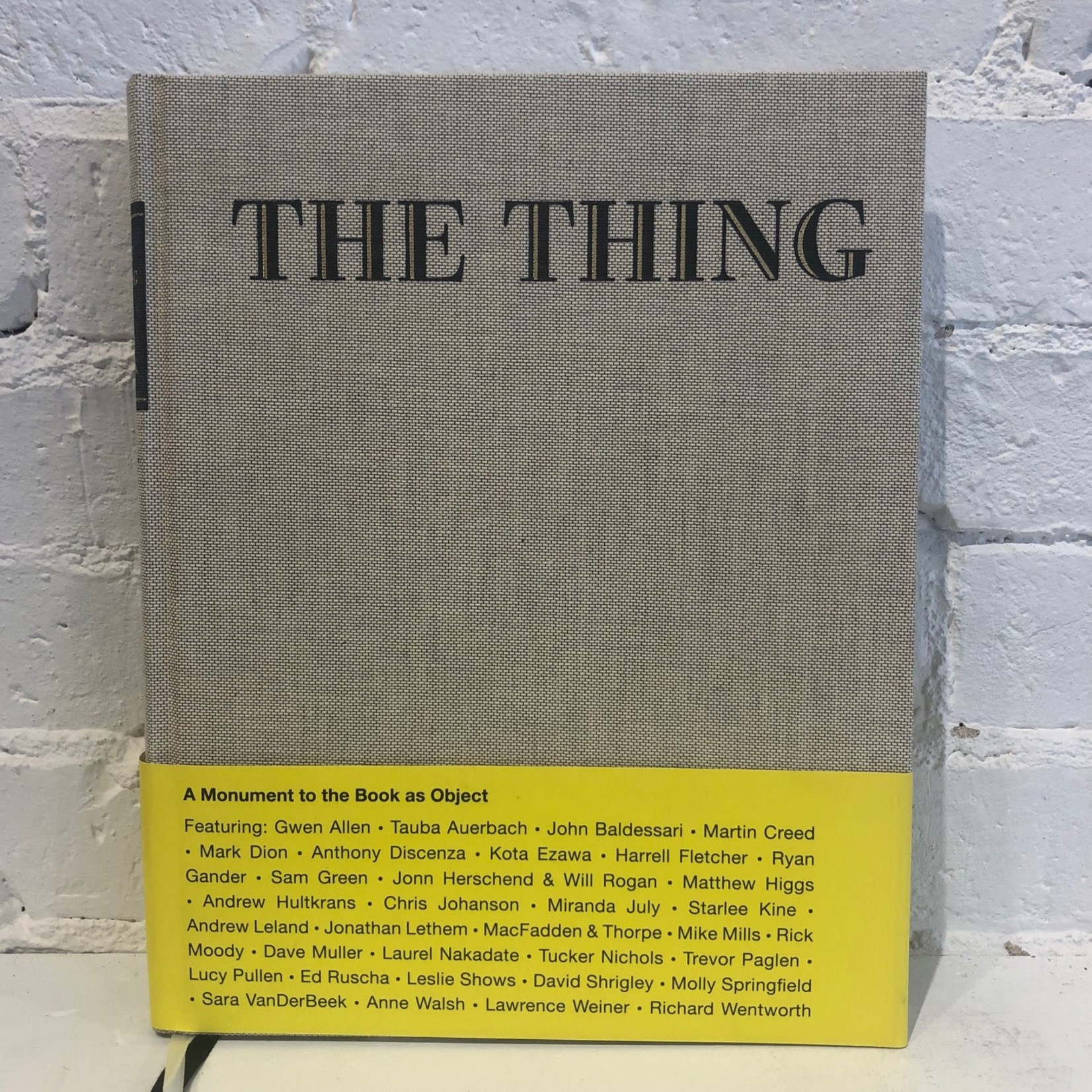 The Thing: A Monument to the Book as Object