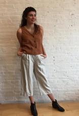 Pas de Calais Cropped Linen Pants