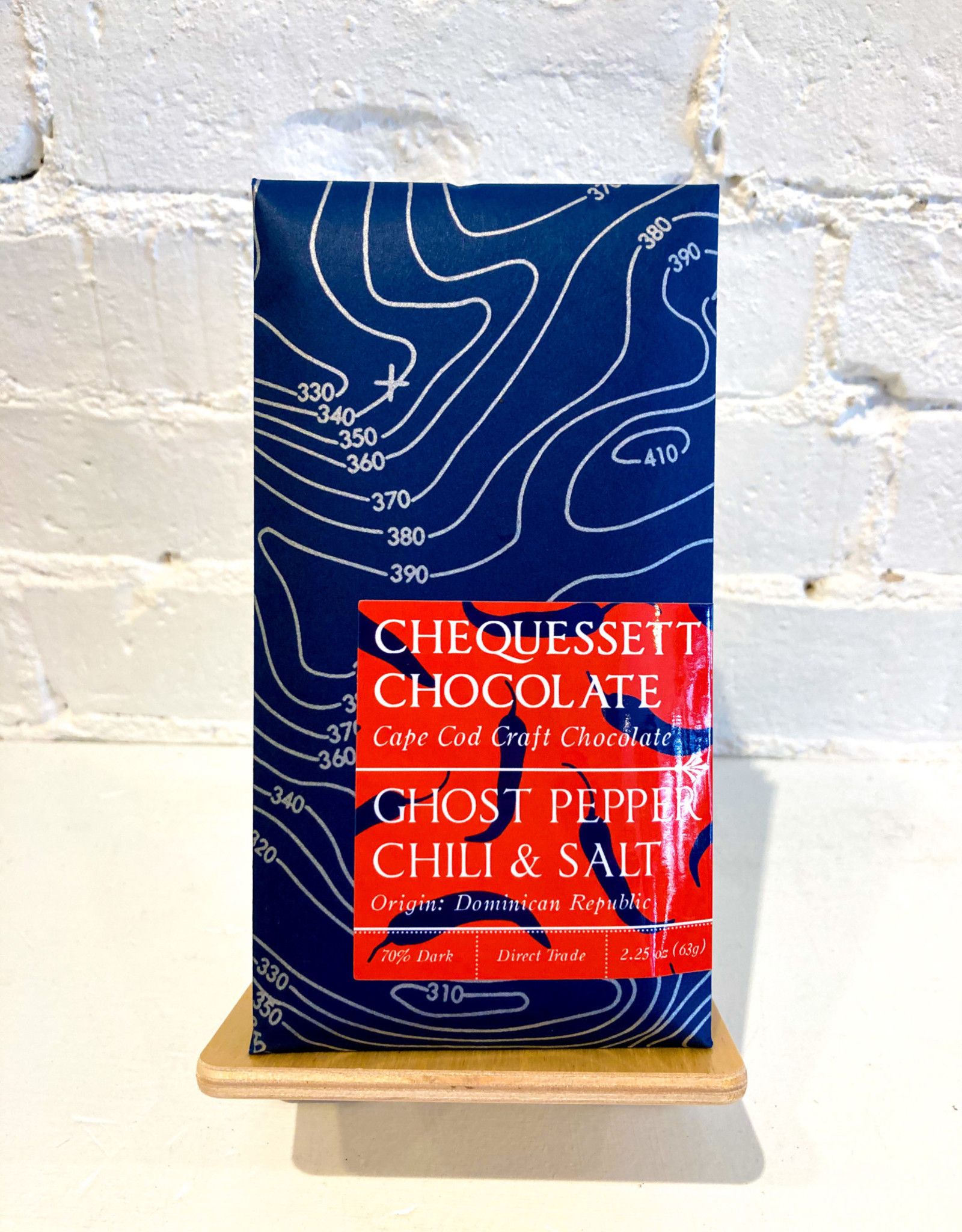 Chequessett Chocolate Ghost Pepper Chili & Salt Bar
