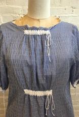 AVN Blue Gingham Dress and Slip