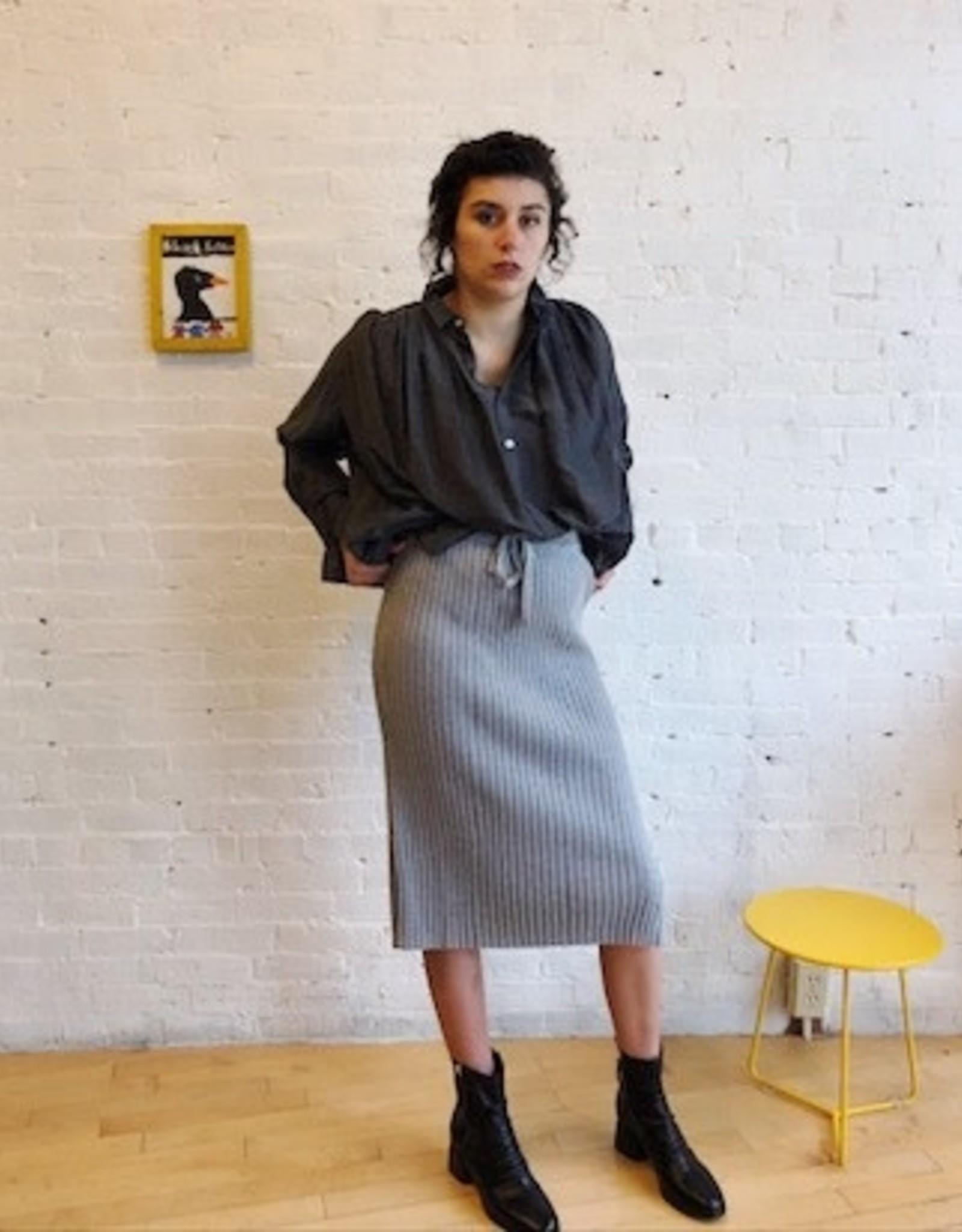 Kowtow Knitted Rib Straight Fit Skirt XS