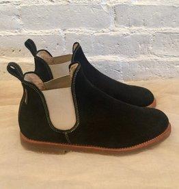 Penelope Chilvers Black Suede Shearling Safari Chelsea Boot