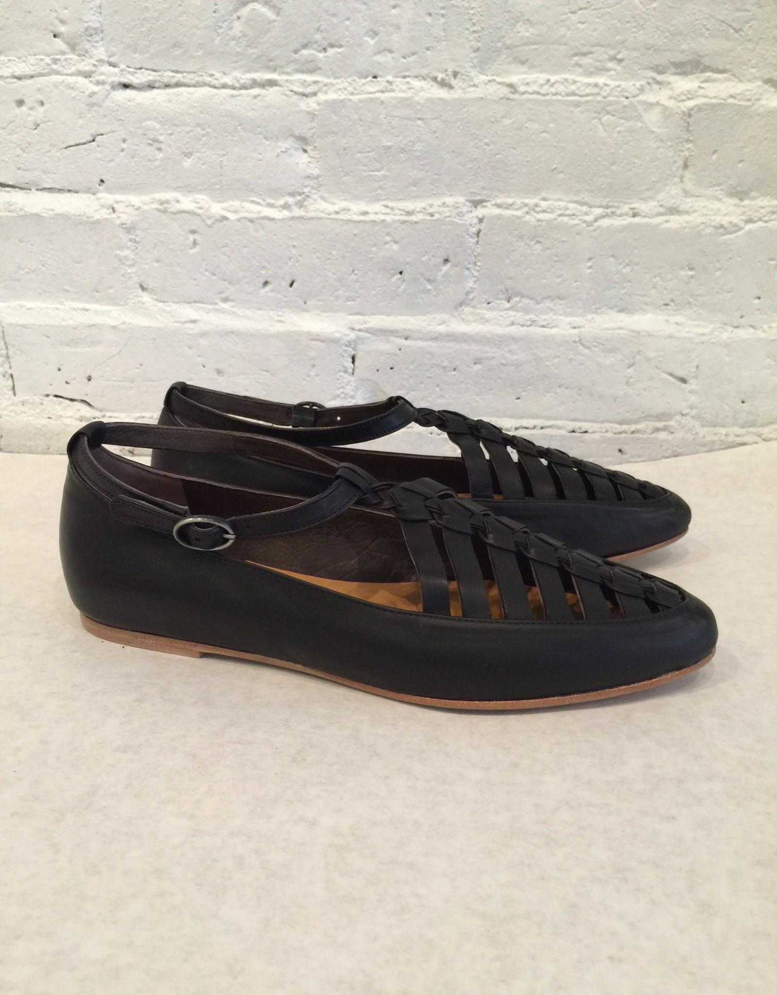 Coclico Leather Ringo Black Flat