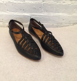 Coclico Leather Ringo Black Flat