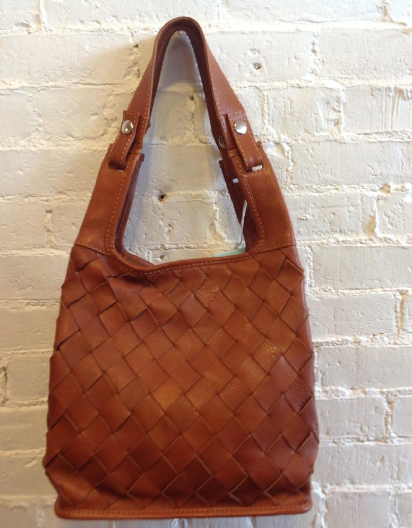 Lumi Woven Leather Market Bag