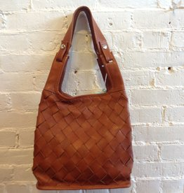 Lumi Woven Leather Market Bag