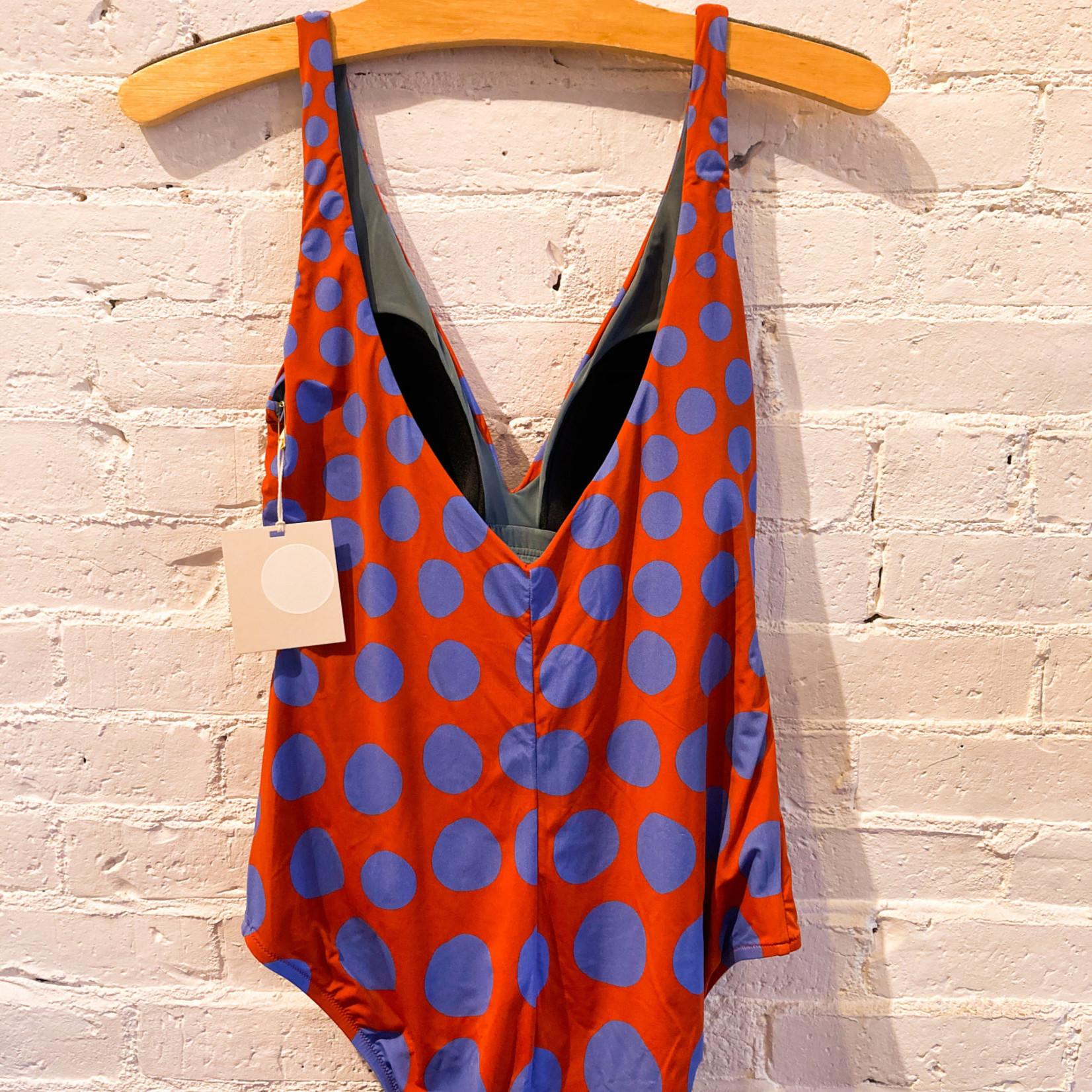 Siyu Jirafa Bathing Suit: Blue Dot Pattern