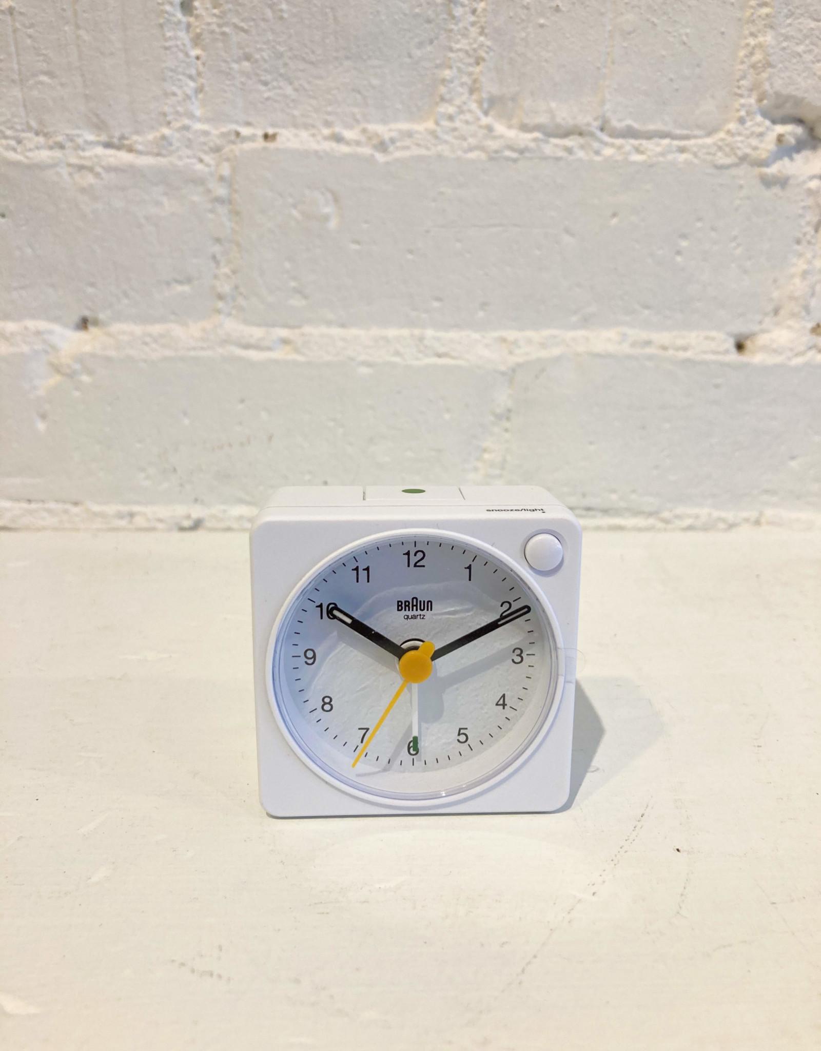 Braun Travel Alarm Clock: White: BC02XW