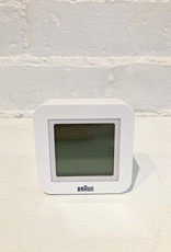 Braun Travel Alarm Clock: Digital White