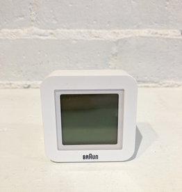 Braun Travel Alarm Clock: Digital White