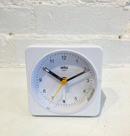 Braun Alarm Clock: White/white BC03W