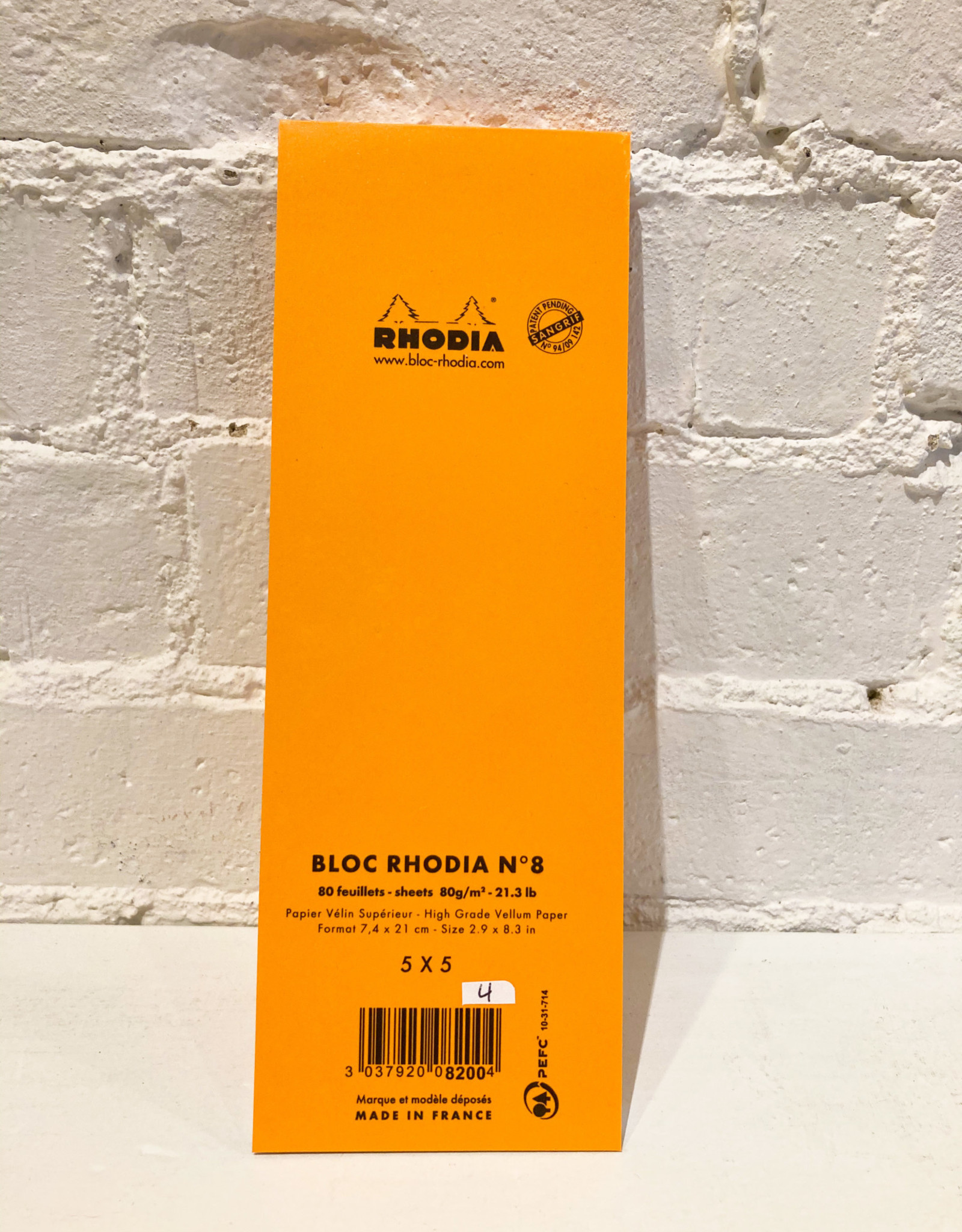 Rhodia Bloc Rhodia #8 Orange