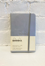 Rhodia Lined Notebook Silver
