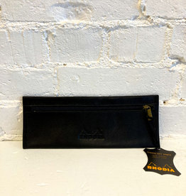 Rhodia Leather Pencil Case Black