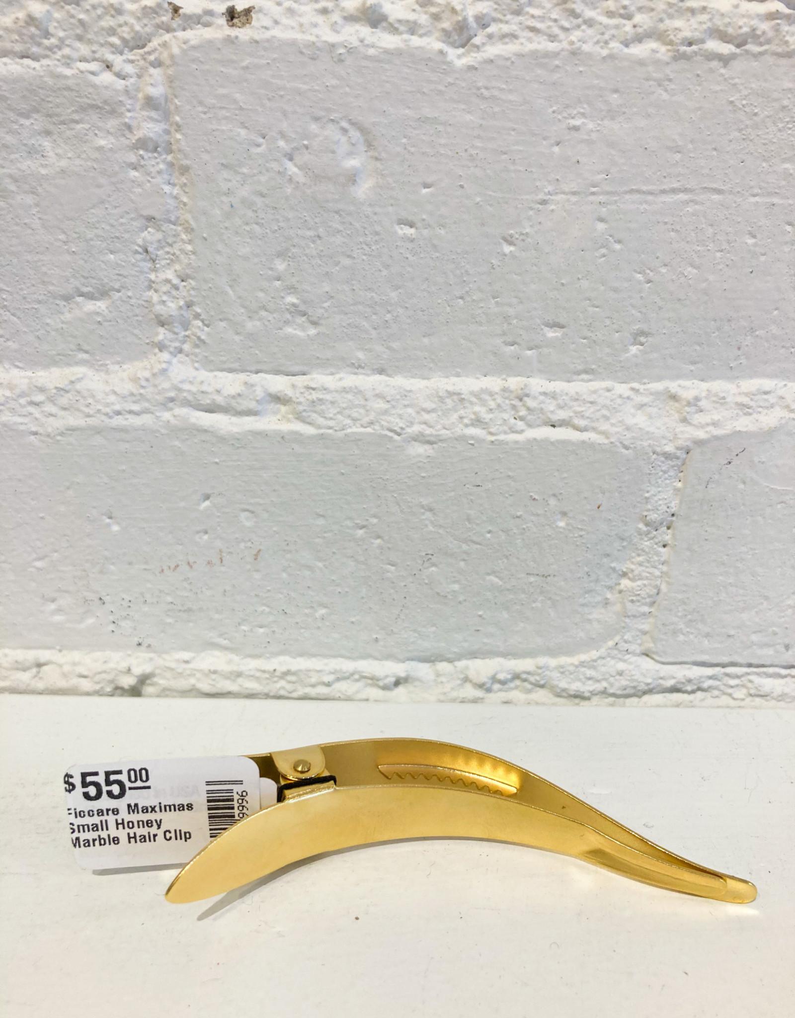 Ficcare Maximas Small Honey Marble Hair Clip