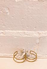 Natalie Joy Circle Cage Earrings- Small