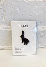 HAM Bouncing Rabbit Pin