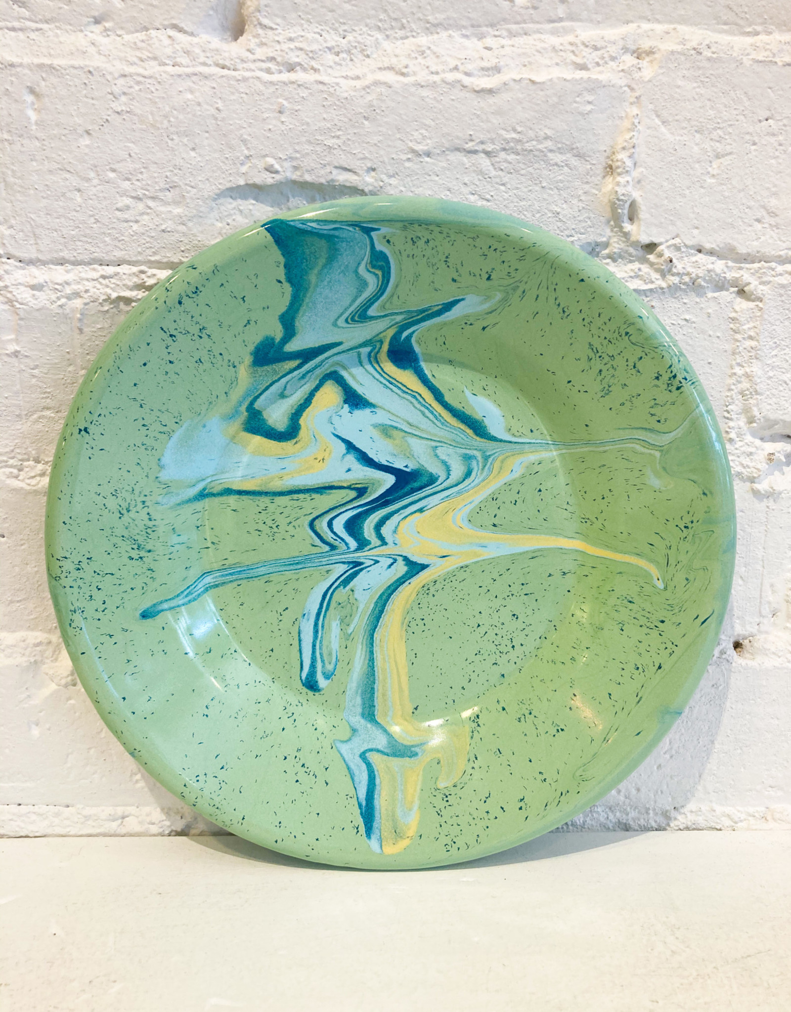 Bornn Multi Swirl Lunch Plate- Mint