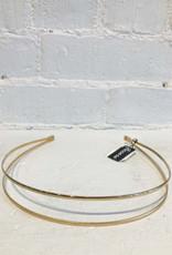 Ficcare 2 Arch Headband: 2 Tone Gold