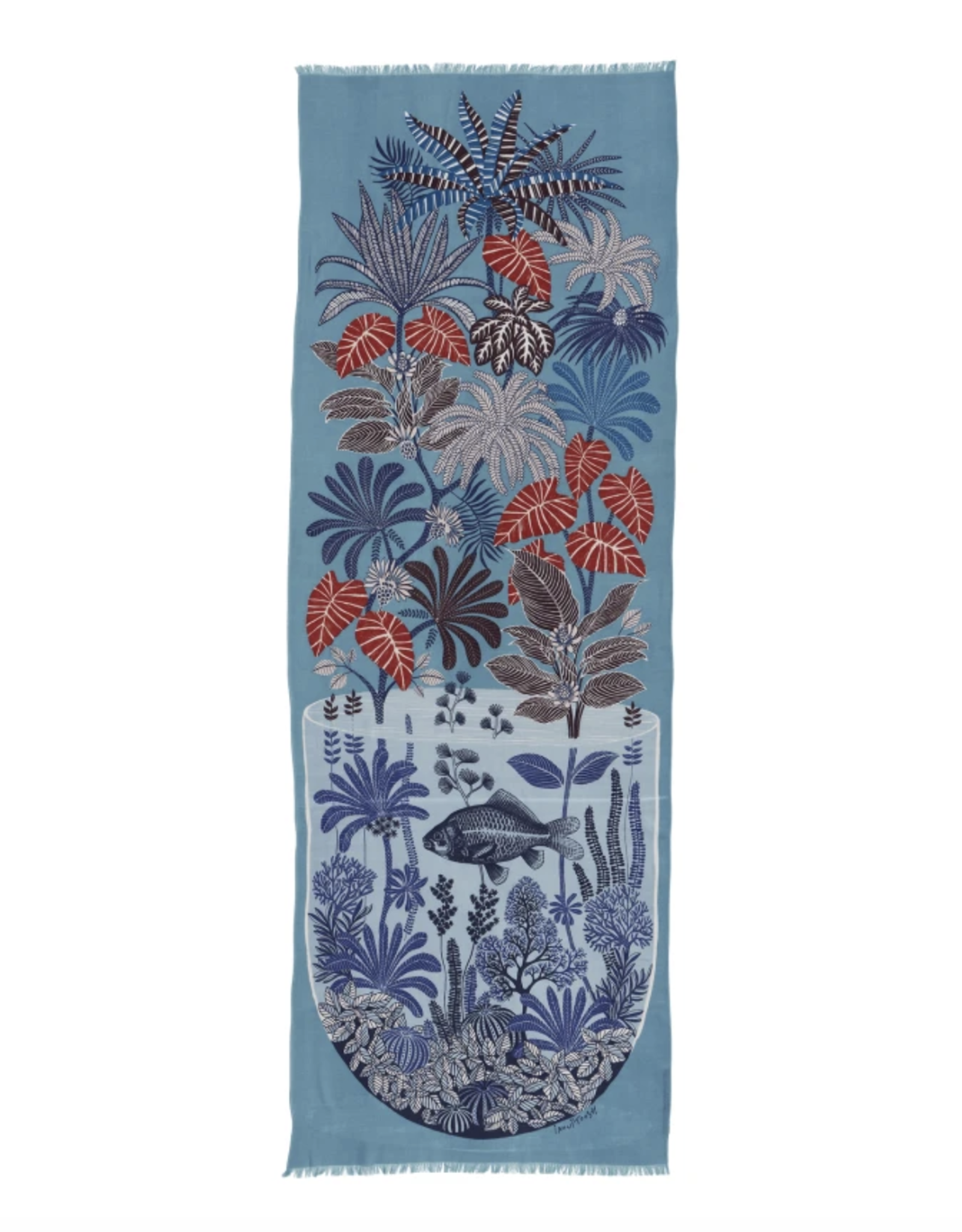 Inouitoosh Herbarium Scarf- Turquoise
