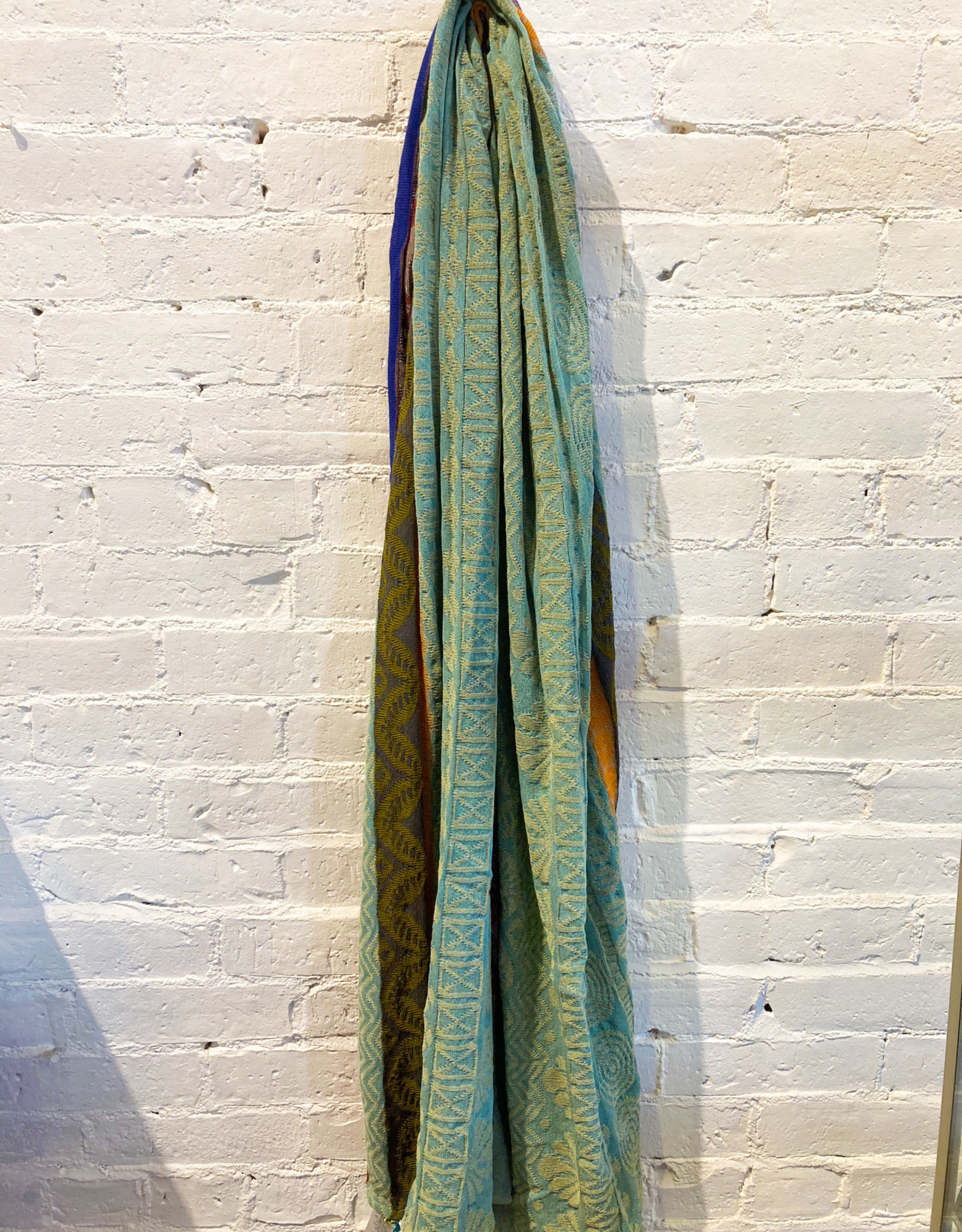 Catherine André Beausoleil Scarf- Turquoise