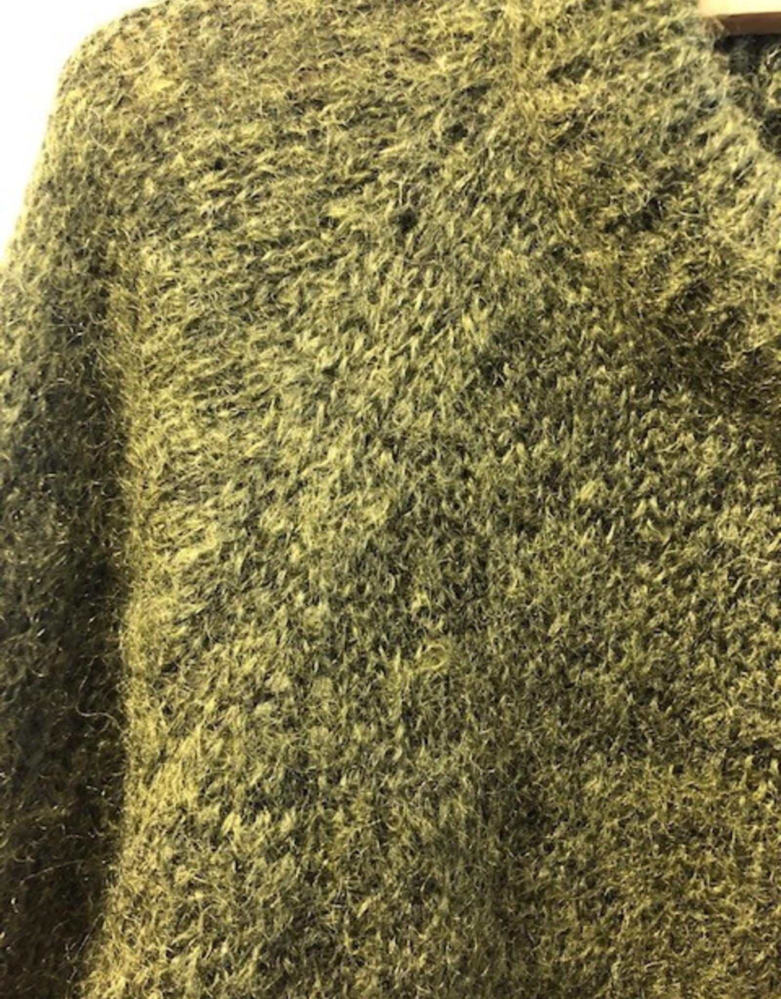 Maska Maska REEVE silk mohair sweater green