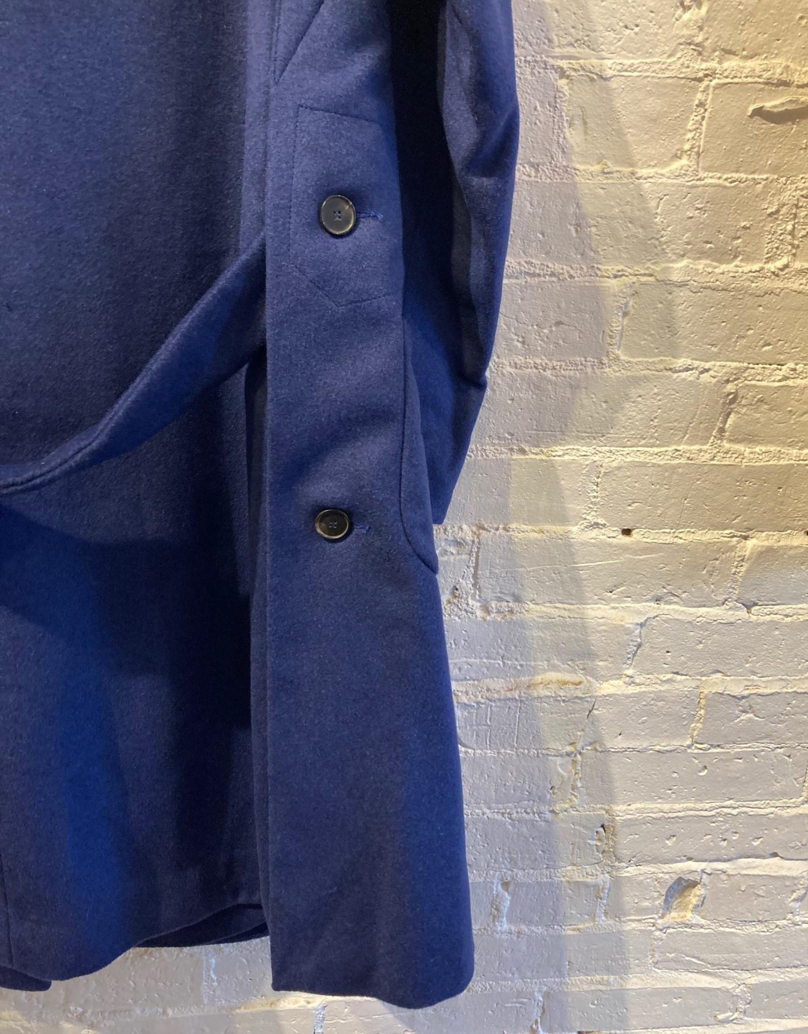 Yoshi Kondo Yoshi Kondo Blue Wool Coat
