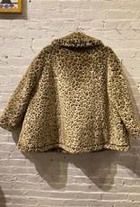 Hache Hache Faux Leopard Winter Swing Jacket