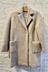Maryam Nassir Zadeh Maryam Nassirzadeh: Mohair Double-breasted Car Coat