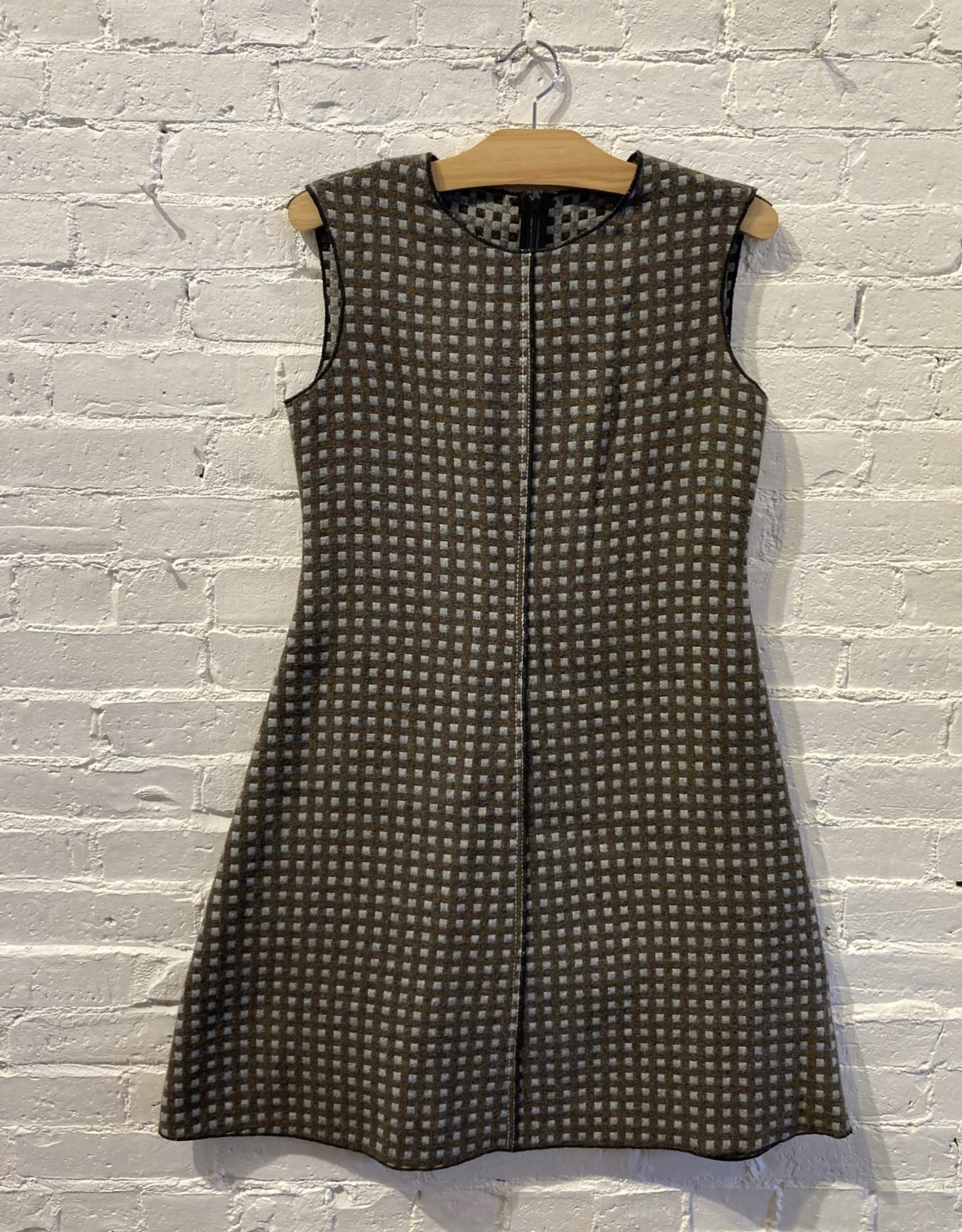 Hache Hache Double-Cloth Check 60's A-line Dress