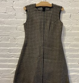 Hache Hache Double-Cloth Check 60's A-line Dress