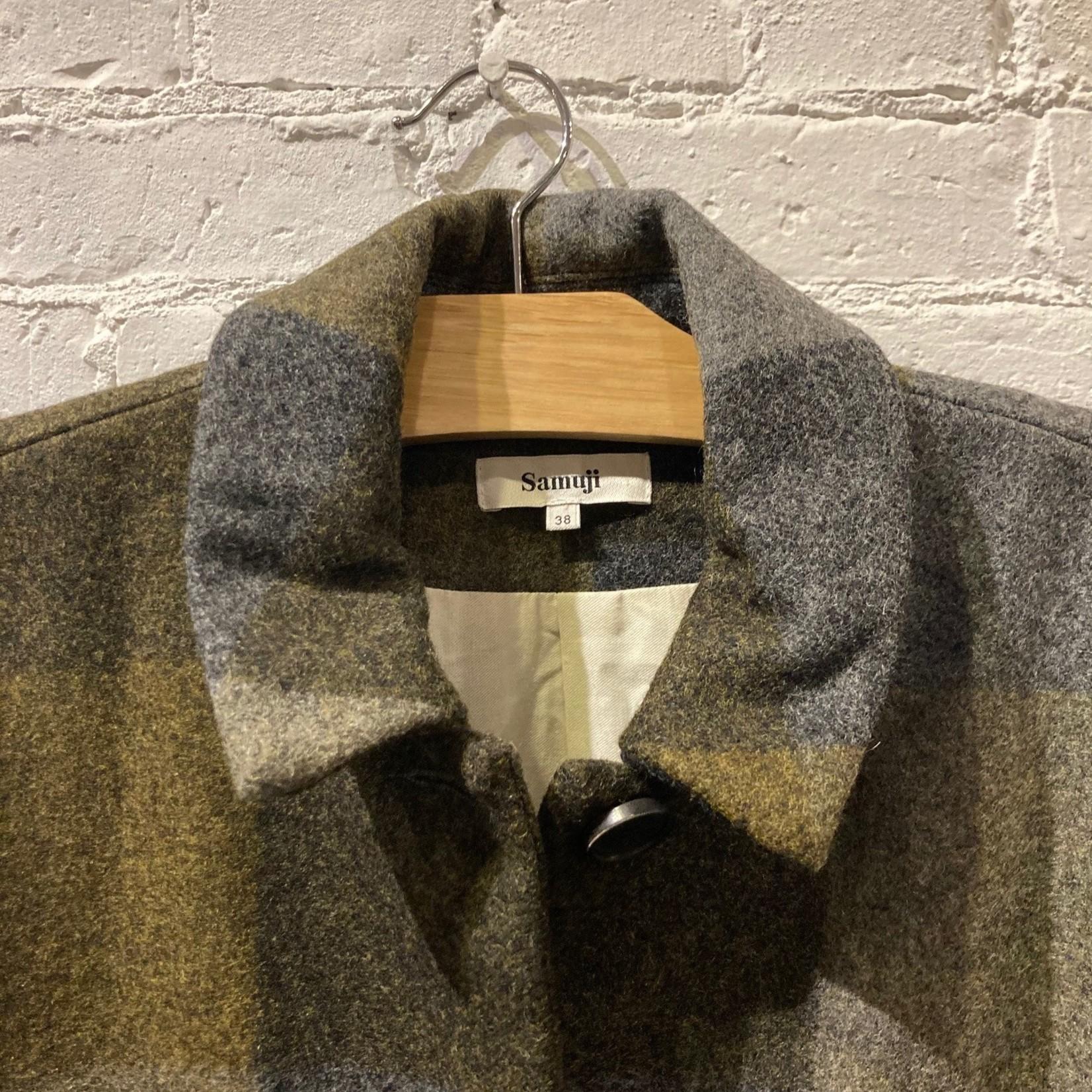 Samuji Paola Plaid Wool Coat