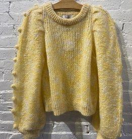 Rodebjer Rodebjer: Light Yellow Pom-Pom Sweater