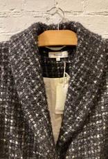 Samuji Samuji: Textured Wool Plaid Coat