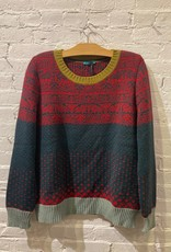 Catherine André Catherine Andre: Multi-colored Faire Isle Style Knit Sweater