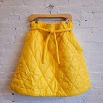Collection PRIVEE? Collection PRIVEE?: Yellow Puffer Tie-Waist Paperbag Skirt
