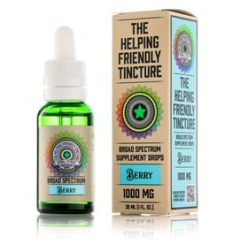 Vapejoose The Helping Friendly Broad Spectrum Tincture 1000mg - Berry