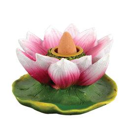 "Lotus Flower Backflow Incense Burner - 3"" - #8314"