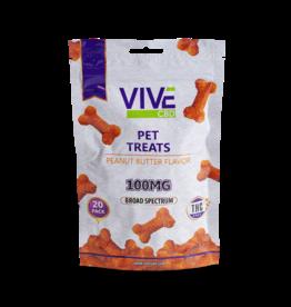 Vive Vive CBD Broad Spectrum Peanut Butter Pet Treats – 100mg – 20pk