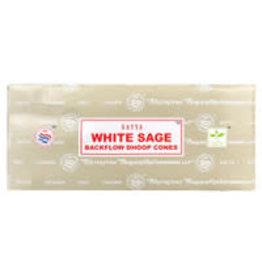 Satya Satya Backflow Cones - 24pc White Sage