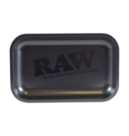 Raw Raw Black Matte Small Metal Rolling Tray