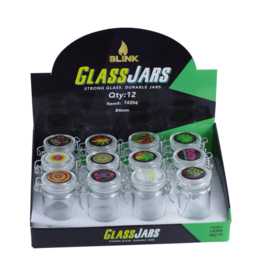 Blink Blink Air Tight Glass Jars W/ Latch Top - #9698